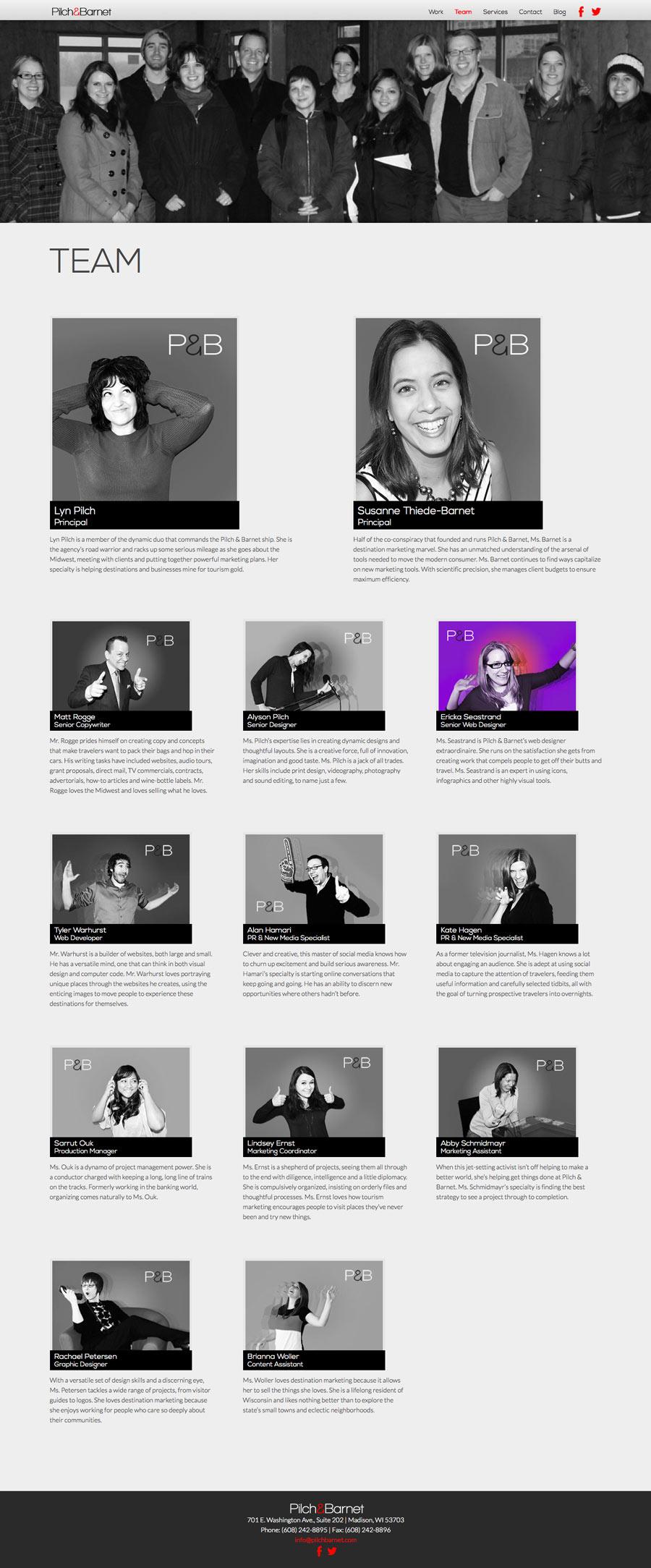 Pilch & Barnet Team Page
