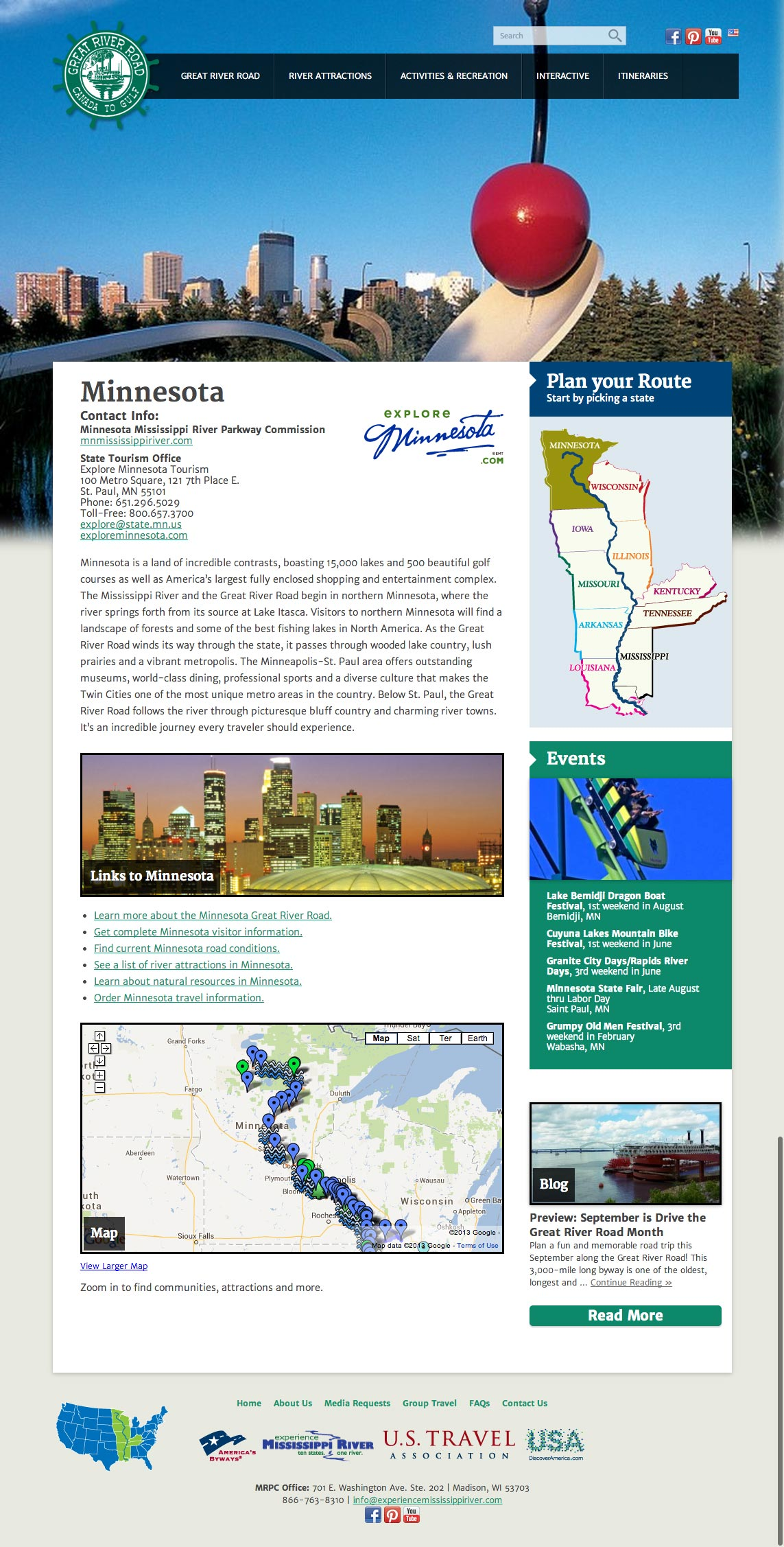 Experience Mississippi River Minnesota Page